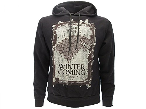Sudadera con Capucha Hoodie Winter IS Coming Familia Casa Stark Serie de Televisión Juego DE Tronos Game of Thrones - 100% Oficial HBO