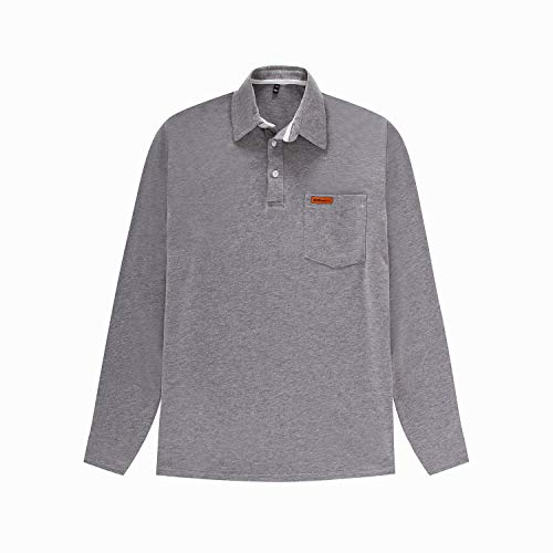 IYFBXl heren polo shirt met lange mouwen herenshirt reversoverhemd FM062-2