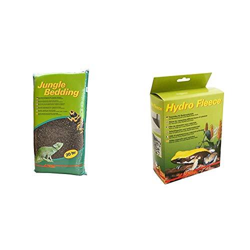 Lucky Reptile JB-20 Jungle Bedding, 20 Liter, Bodengrund für Tropenterrarien & HF-100 Hydro Fleece 100 x 50 cm