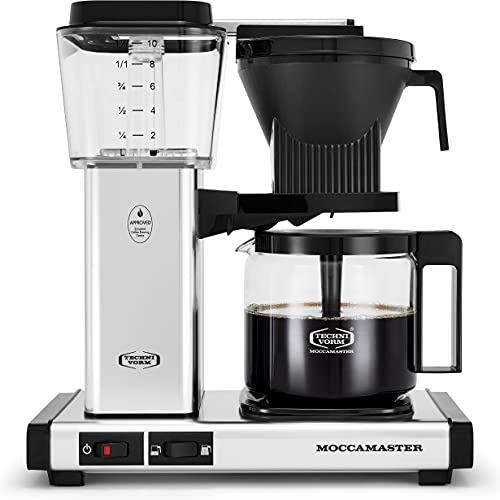 Moccamaster 53941 KBGV Select 10-Cup Coffee Maker, Polished Silver, 40 ounce, 1.25l