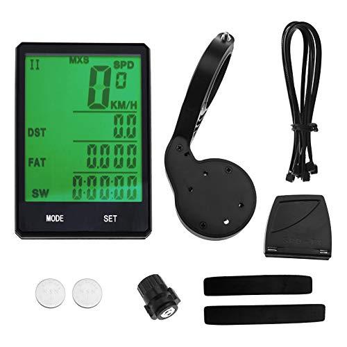 YINETTECH Impermeabile Computer Bicicletta Wireless e Cablato MTB Bike Outdoor Ciclismo Contachilometri Cronometro Tachimetro Orologio Display LCD Frequenza Digitale