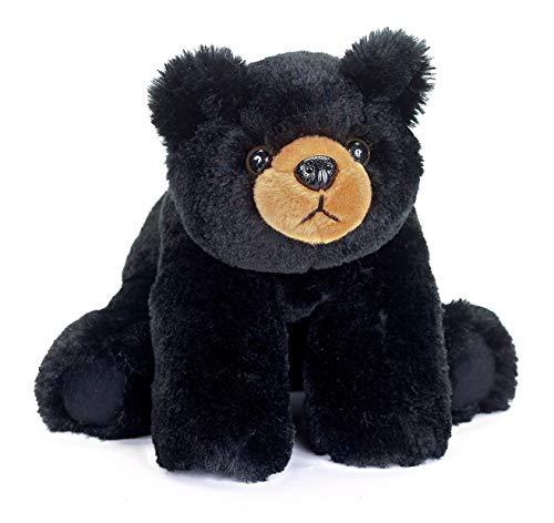 Bearington Baby Bandit Plush Stuffed Animal Black Bear Teddy, 12.5'