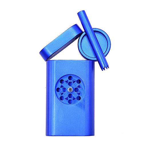Smoking Set Metal Pipe Aluminum Cigarette Case Large-Capacity Portable...