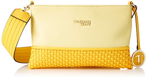 Trussardi Jeans Damen Mimosa Pochette Ooth Clutch, Gelb (Light Yellow), 26x18.5x1 centimeters