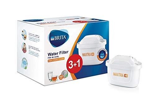 BRITA MAXTRA+ Hard Water Expert, Cartuchos de filtrado para el agua dura, 4 unidades