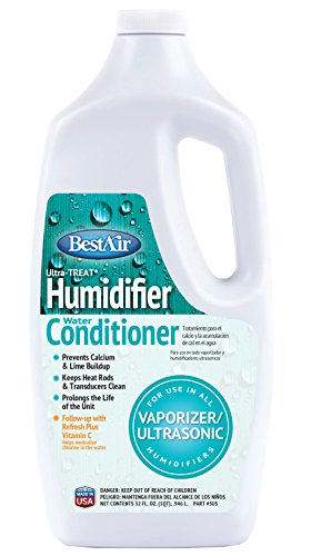 BestAir 3US UltraTreat Vaporizer/Ultrasonic Humidifier Water & Scale Treatment, 32 fl oz, 6 Pack