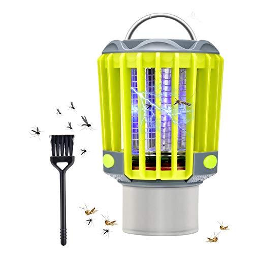 Hisome Lámpara Antimosquitos Electrico 3 en 1, Lampara Mosquitos Camping con IP67...