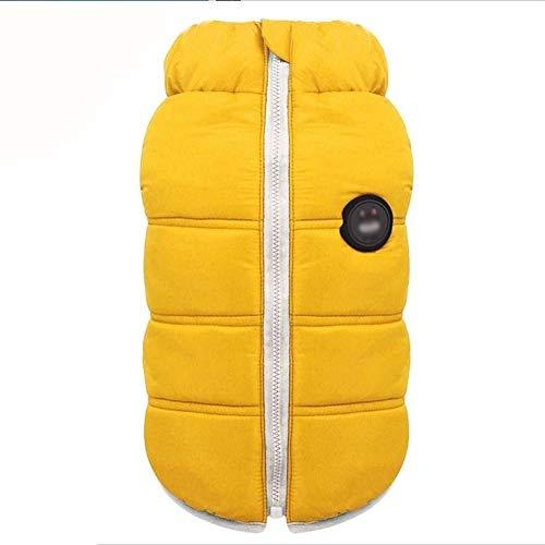 La Mode Vêtements for Animaux Chien Chat, Veste Épaisse De Coton Chaud d'hiver, Vêtements for Chiens en Peluche Kirkye, Petits Costumes De Chiens (Color : Yellow, Size : XXXX-Large)