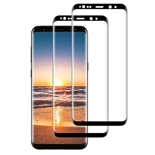 FayTun Vidrio templado compatible con Samsung Galaxy S9, Bubble-, HD Película de vidrio templado, dureza 9H, antiburbujas [2 piezas]