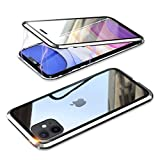 YSAN iPhone11 ケース アルミバンパー 両面ガラス 360度全面保護 クリアフルカバー 表裏磁石 ……