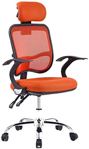 LIUBINGER Silla de Oficina Silla ergonómica de la Silla Alta de la Oficina Alta con Soporte Lumbar Ajustable CushionMesh Silla de computadora (Color : Orange)