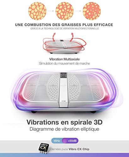 Sportstech Plateforme Oscillante & Vibrante VP300 Technologie de Vibrations à Bascule 3D, Puissance Moteur 2X1000W Max (Reconditionné Rouge)