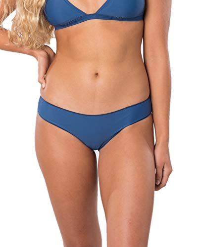 Rip Curl Women's Classic Surf Hipster Cheeky Coverage Bikini Bottom, Blue 4K, Extra Small