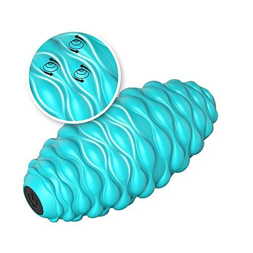 WMMCM Yoga Mace elektrische schuimgolf, Peanut Fascia bol spierrelax massage bal scooter stooter stoovepipe vibratie kalf (kleur: geel, blauw, roze)