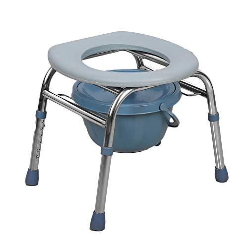 Z-SEAT Silla de Inodoro Sillas con Inodoro, Altura Ajustable, Cama portátil para Ancianos de Acero Inoxidable, Asientos de baño, ayudas médicas, Mujeres Embarazadas/niños