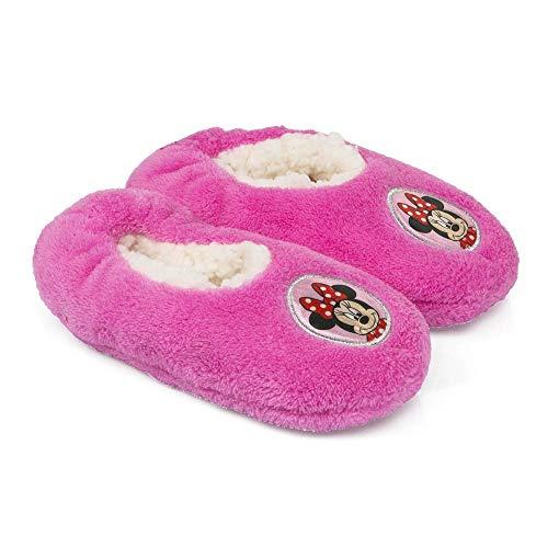 Disney Minnie Mouse Pantoffeln Hausschuhe pink rot Sohle rutschhemmend 25-32 (29/30, pink)