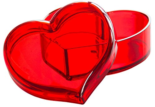 Solly's Clara sieraden doos in hartvorm met deksel, decoratieve hartvormige schaal voor oorbellen, ringen, kettingen