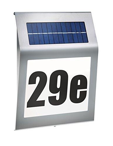 Solar Hausnnummer Style 5500K kaltweiß Solarleuchte Hausnummernleuchte LED esotec 102031