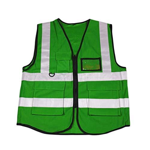 Vest groen hoge zichtbaarheid 100% polyester multi-asca werkvest veiligheidsvest reflecterend nachtzicht veiligheid unisex