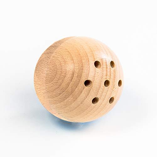 rewoodo Baelly Babyball Premium Motorik Babyspielzeug Holzspielzeug aus Deutschland (Natur)