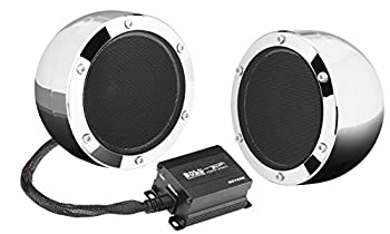 BOSS Audio Systems MC720B Motorcycle Speaker System - Bluetooth Weatherproof Speakers / Amplifier 4 Inch Speakers 2 Channel Amplifier Volume Control Great for ATVs and 12 Volt Vehicles