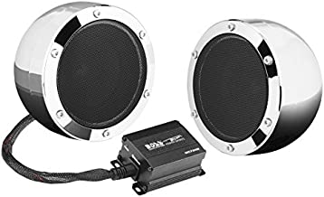 BOSS Audio Systems MC720B Motorcycle Speaker System - Bluetooth, Weatherproof Speakers / Amplifier, 4 Inch Speakers, 2 Channel Amplifier, Volume Control, Great for ATVs and 12 Volt Vehicles
