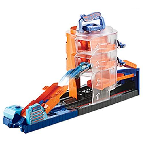 Hot Wheels City Concesionario giratorio, pistas de coches de juguetes niños + 3 años (Mattel GBF95)