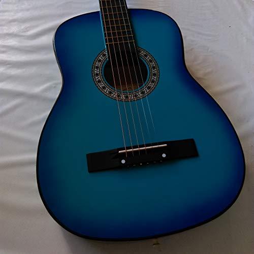 Akustik-Gitarre, 38 Zoll, Blau