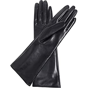 Vikideer Women's Leather Gloves Long Sleeves Full Touchscreen Winter Warm Lined Elegant Type
