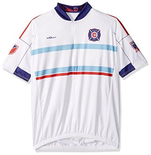 VOmax MLS Herren Arbeitskleidung Short Sleeve Radfahren Jersey, Herren, weiß, Small