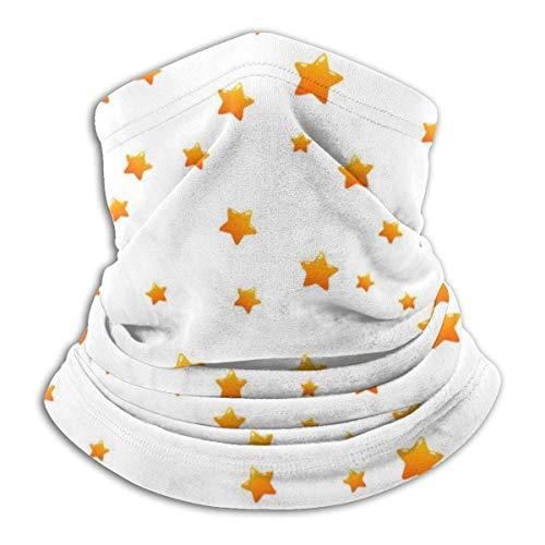 senob Goldsterne auf weißem Hintergrund Nahtloses Muster Kopfbedeckung Halsmanschette Wärmer Winter Skiröhrchen...
