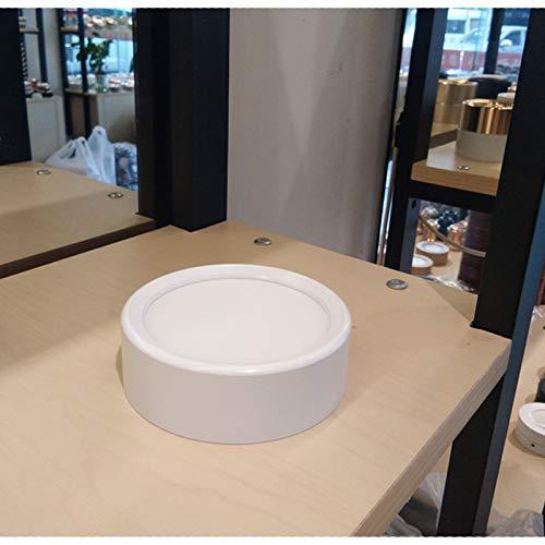 BFMBCHDJ Pannello decorativo rotondo in alluminio a plafone montato a parete Pannello di illuminazione 220V decorativa Camera da letto Soggiorno Illuminazione PC 2 PZ) Bianco freddo 6000k 10W 100x30mm