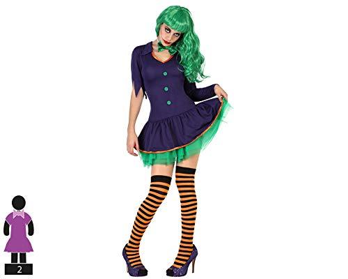 Atosa-57677 clown-kostuum voor dames, volwassenen, groen, XL (5767777)