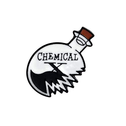 Esmalte Pin Origami Juego Corazón Ataúd Ciencia Cobweb Química Partidos Rose Cuchillo Broche Y Pin De Solapa De Dibujos Animados Botón Insignias