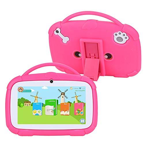 Tableta para Niños de 7 pulgadas,Android 8.1 de Cuatro Núcleos,1 GB RAM + 16 GB ROM, WiFi,Bluetooth,Cámaras Duales,Educación,Juegos,Control Parental,Estuche de Protección para Niños Preinstalado