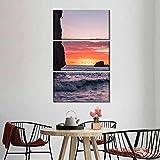 IMAX888 3 Piezas De Pared Fotos Cuadros En Lienzo Martinica Sunset Beauty HD Imprimir Modern Artwork Decoración De Arte De Pared Living Room 3 Piezas Artística Cuadros