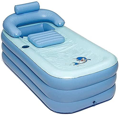 Piscina Inflable Azul portátil, Piscinas Familiares Plegables Grandes para niños, Adultos, Piscina para niños, Material de PVC, Movimiento de Verano, Piscina Divertida con Agua