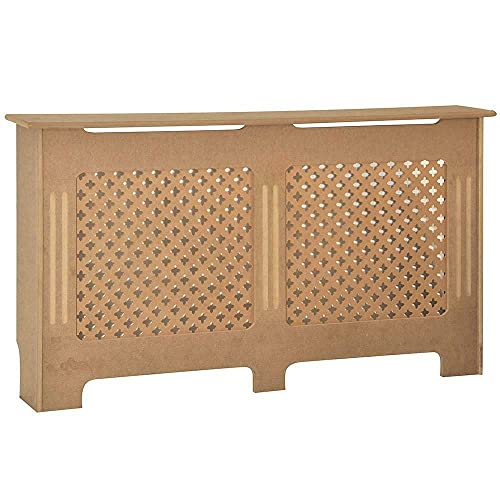 YIE Radiator Cover Traditional Unfinished Large MDF Cabinet Unpainted