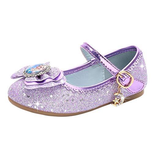 New front Niñas Bailarina Zapatos de Princesa Elsa Zapatos Sandalias Festivo Disfraz...