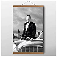 ジェームズボンド007ポスターウォールアート写真ポスターとプリント部屋の家の装飾のためのキャンバスの絵画キャンバスウォールアートキャンバスの装飾キャンバスにプリント、フレーム付き40X60Cm