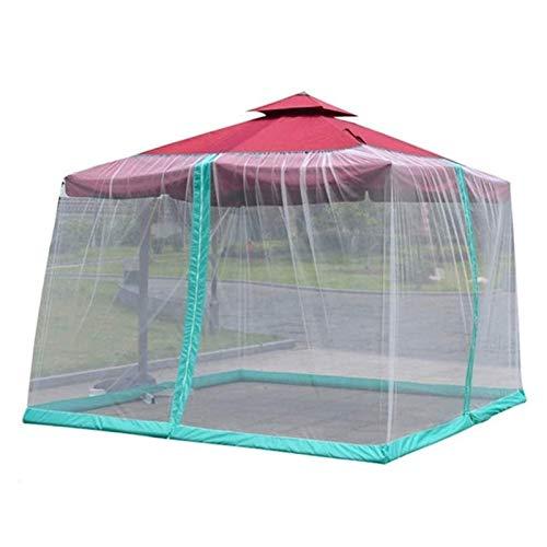KISNAD Paraguas Mosquitera para Gazebo – Jardín Exterior Patio Mosquitero con Cierre de Cremallera de Apertura de Malla de poliéster Anti-Mosquitos Inyectar cantidad apropiada