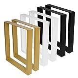2x Tischkufen Tischbeine Tischuntergestell Schwarz Industrial Weiß alle Größen (B70 x H72 cm,...
