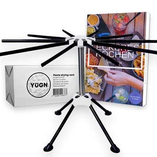 YUGN® Nudeltrockner Edelstahl Pastatrockner Nudelständer - Enthält 10 Arme und Ist Spülmaschinenfest - Für Die Herstellung Von Nudeln und Spaghetti - Nudelständer zum Trocknen
