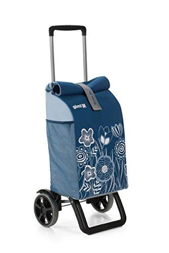 Gimi Trolley Rolling, Einkaufstrolley, Thermotasche, blau, 50 l Volumen, 30 kg Tragekraft, Teleskop