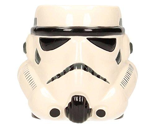SD toys Star Wars Taza 3D Stormtrooper Cabeza, Cerámica, Blanco, 10 cm