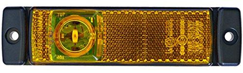 HELLA 2PS 008 645-001 Seitenmarkierungsleuchte - LED - 24V - Lichtscheibenfarbe: gelb - LED-Lichtfarbe: gelb - Anbau - Kabel: 1500mm - Einbauort: links/rechts