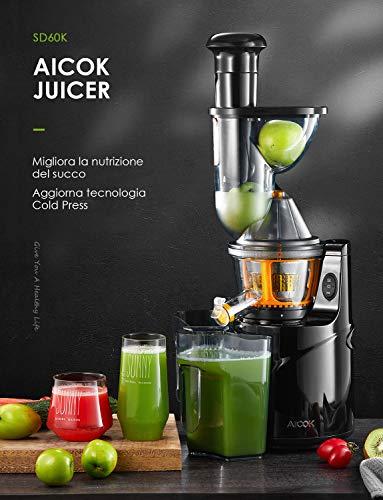 Gemüse & Obst Slow Juicer Aicok Entsafter Bild 4*