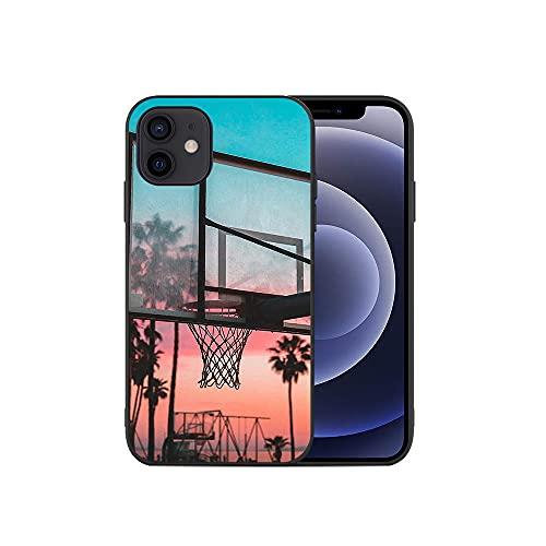 JINGJINGJIAYOU Cajas de teléfono móvil TPU Suave, Cubierta del teléfono de Baloncesto, para iPhone 11 12 Pro XS MAX Mini 7 8 6S Plus X XR-baloncesto4_iphone7 / 8