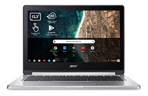 Acer Chromebook R13 CB5-312T - Portátil Táctil 13.3' FullHD (MTK M8173C, 4GB RAM, 64GB eMMc, IMG PowerVR GX6250 Graphics, Chrome OS), Teclado QWERTY Español, Color Plata
