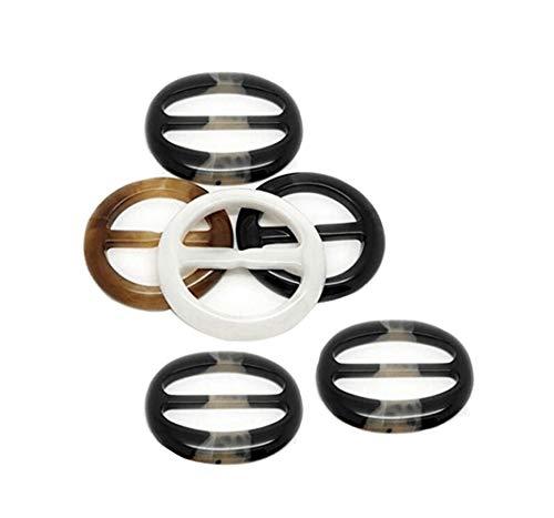 6ピース プラスチック ラウンド スムーズ ファッション シルク スカーフ クリップ クラスプ リング スカーフ バックル スライド トゥイリー ネックチェフ 2 Inch YPP-004X
